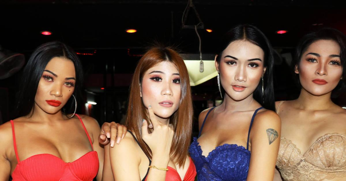 four beautiful thai ladyboys